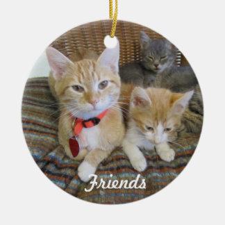 Orange Kitten Ceramic Ornament
