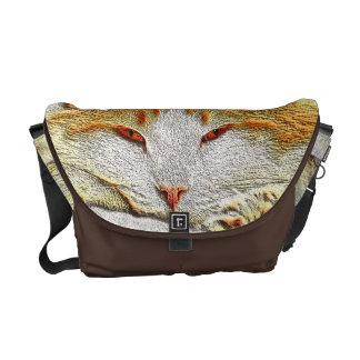 Orange Kitty Cat Courier Bag