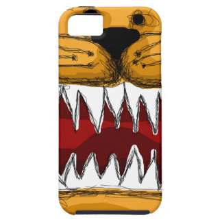 Orange Kitty Cat Scribble, Big Teeth iPhone SE/5/5s Case