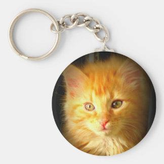 Orange kitty keychain