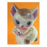 Orange Kitty Neko Postcard