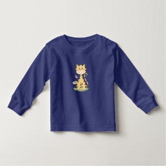 Orange Kitty w/ Flower Toddler T-shirt