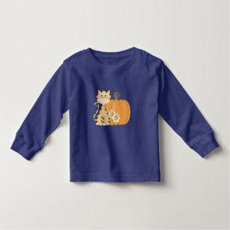 Orange Kitty w/ Pumpkin Toddler T-shirt
