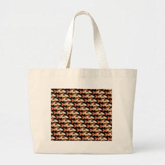Orange koi Carp Pattern in black Jumbo Tote Bag