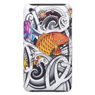 Orange koifish tattoo design with Polynesian art iPod Touch Case-Mate Case