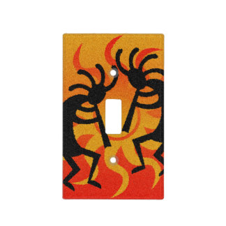 Orange Kokopelli Southwest Light Switch Cover