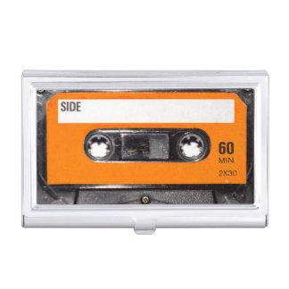 Orange Label Cassette Business Card Holder