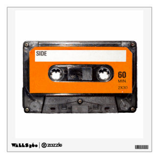 Orange Label Cassette Wall Decal