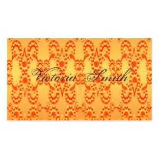 Orange Lace Business Cards