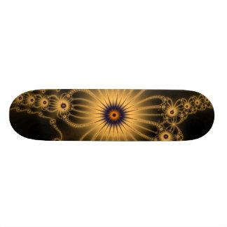 Orange Lace Flowers Skateboard