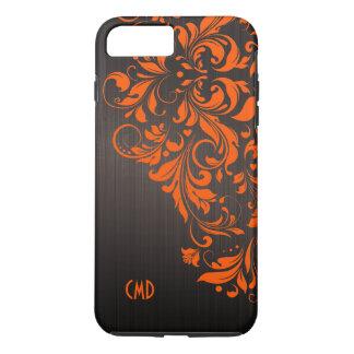 Orange Lace On Brown iPhone 8 Plus/7 Plus Case