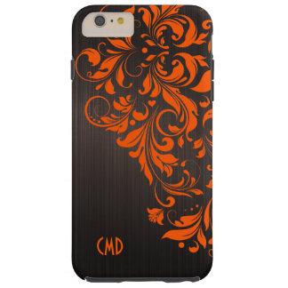 Orange Lace On Brown Tough iPhone 6 Plus Case