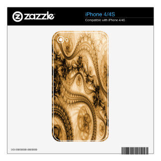 Orange Lace Skin Decals For The iPhone 4S