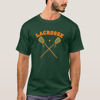 Orange Lacrosse Logo T-Shirt