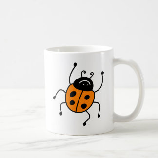 Orange Ladybug Classic White Coffee Mug