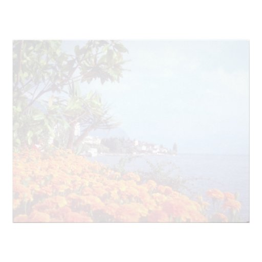 Orange Lake Geneva, Montreux, Switzerland flowers Letterhead