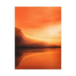 Orange landscaoe canvas print