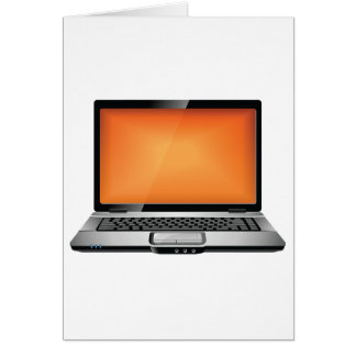 Orange Laptop Card