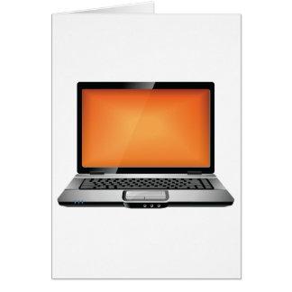 Orange Laptop Card