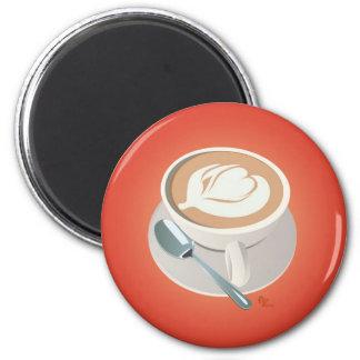 Orange Latte Magnet