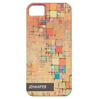 Orange Lattice Harmony Abstract Art iPhone 5 Case