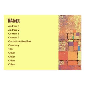 Orange Lattice Harmony Business Card