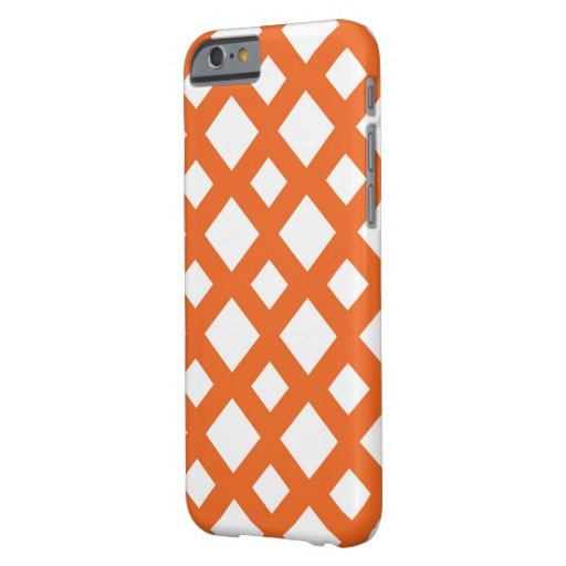 Orange Lattice on White Barely There iPhone 6 Case