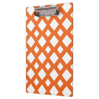 Orange Lattice on White Clipboard