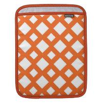 Orange Lattice on White Sleeve For iPads