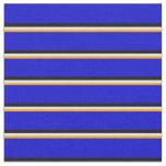 [ Thumbnail: Orange, Lavender, Black, and Blue Stripes Pattern Fabric ]