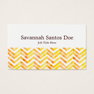 Orange Layered Chevron Business Card
