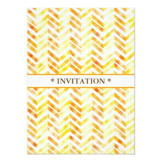 Orange Layered Chevron 5.5x7.5 Paper Invitation Card