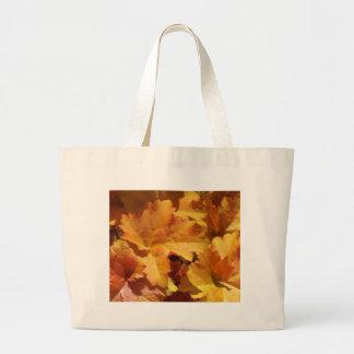 Orange Leaf Tote Bag