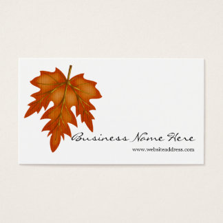 Orange Leaf Fall Season Themed Business Card