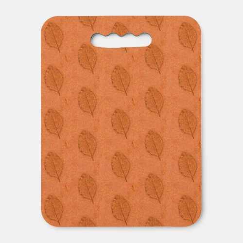 Orange Leaf Fossils Seat Cushion