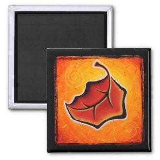 Orange leaf magnet