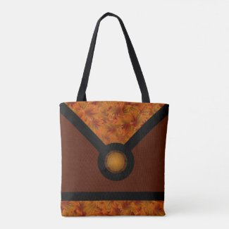 Orange Leaf Nature Designer Tote Bag