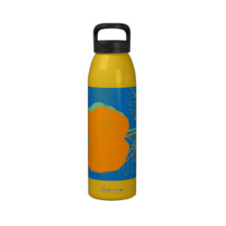 Orange Leaf Retro Painting Abstract Art Drinking Bottles