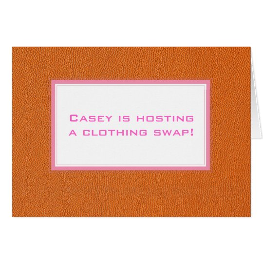 Orange Leather Look Card