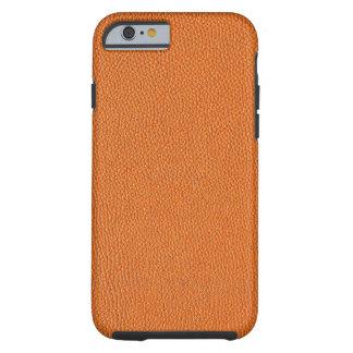 Orange Leather Look Tough iPhone 6 Case