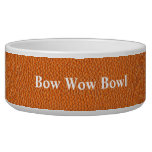 Orange Leather Look Dog Water Bowls