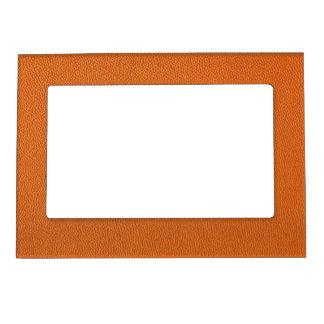 Orange Leather Look Magnetic Frame
