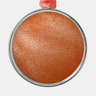 Orange Leather Look Christmas Ornament