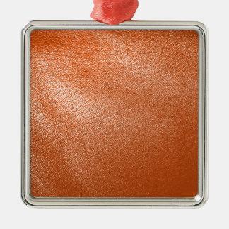 Orange Leather Look Ornament