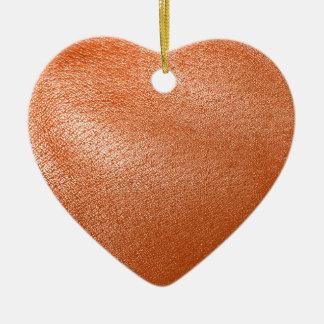 Orange Leather Look Ornaments