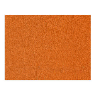 Orange Leather Look Postcard