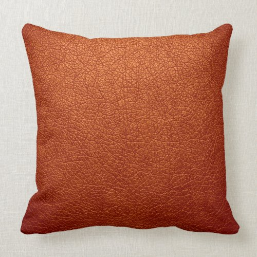 Orange Leather Pillows