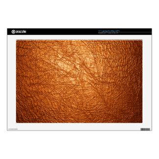 "orange leather texture 17"" laptop decal"