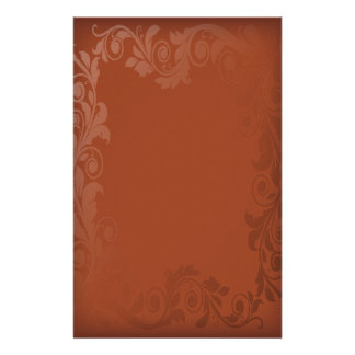 orange leaves autumn wedding stationery