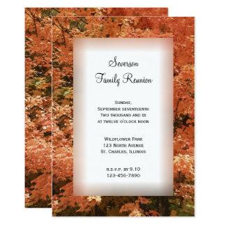 Orange Leaves Family Reunion Invitation